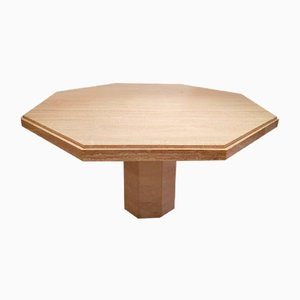 Octagonal Travertine Dining Table