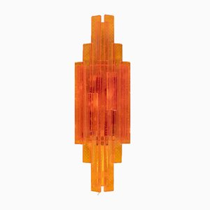 Pressed Glass Sconce Sconce by Claus Bolby for Lyskær Belysning, 1970s