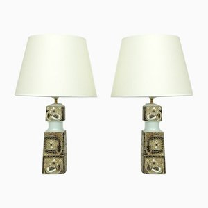 Mid-Century Table Lamps by Nils Thorsson for Fog & Mørup, Set of 2