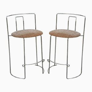 Chrome High Stools by Kazuhide Takahama for Simon Gavina, 1970s, Set of 2