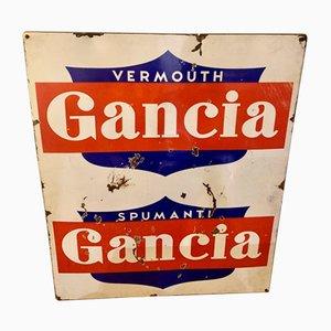 Emailliertes Vintage Schild, 1940er