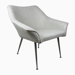 Vintage Armchair with Grey Metal Legs, 1970s