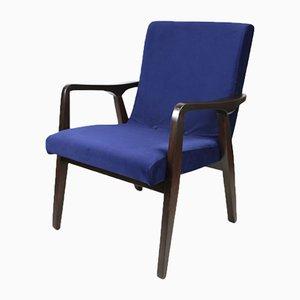 Blauer Vintage Jade Chair, 1970er