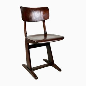 Curved Oak Chair from Casala, 1970s