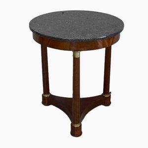 Empire Mahogany & Veneer Pedestal Table, 19th-Century