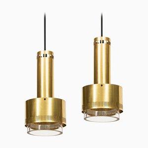 Dänische Deckenlampen von Kay Korbing für Lyfa, 1967, 2er Set