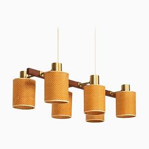 Schwedische Deckenlampe von Hans Bergström für Ateljé Lyktan, 1950er