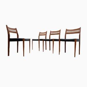 Mid-Century Danish Teak Dining Chairs, 1950s, Set of 4