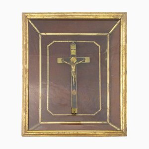 Late-19th Century French Crucifix with Frame