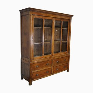 Large Late-19th Century French Pine Country House Kitchen Cabinet
