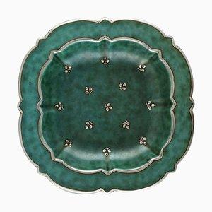 Art Deco Argenta Dish or Bowl in Ceramic by Wilhelm Kåge for Gustavsberg, 1940s