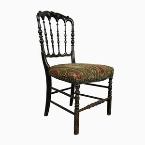 Antique French Napoleon III Chinoiserie Chair