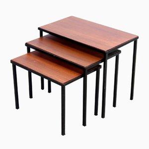 Tavolini a incastro minimalisti in teak di Artimeta, anni '60
