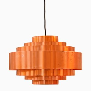 Copper Ultra Lamp by Jo Hammerborg for Fog & Morup, 1960s