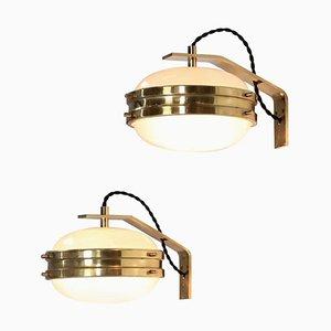 Italian Brass Wall Light by Sergio Mazza, 1960s
