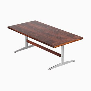 Large Rosewood Dining Table in the Style of Arne Jacobsen, 1960s
