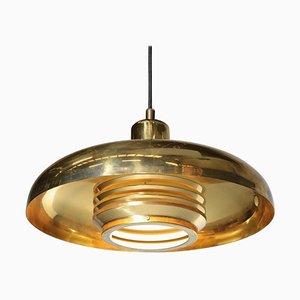 Scandinavian Brass Pendant Lamp by Hans-Agne Jakobsson, 1960s