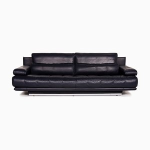 Dark Blue Leather 6500 3-Seat Sofa by Kein Designer for Rolf Benz