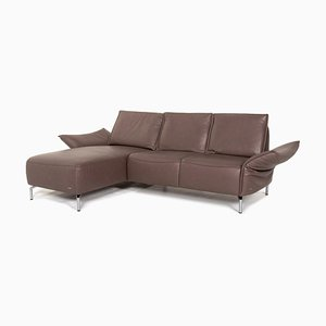 Brown Leather Vanda Corner Sofa from Koinor