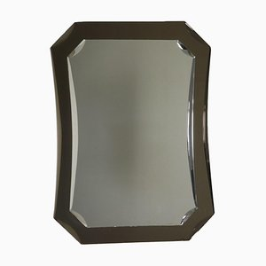 Italian Mirrored and Smoked Glass Mirror, 1960s
