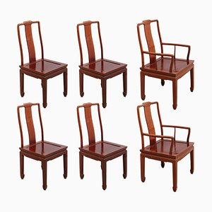 Chinese Ming Style Dining Chairs, 1970s, Set of 6