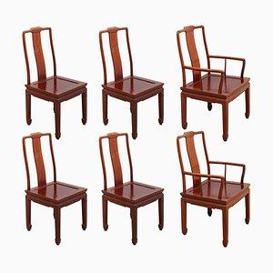 Chinesische Esszimmerstühle im Ming Stil, 1970er, 6er Set