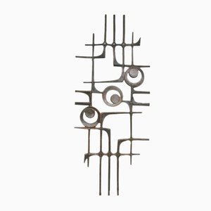 Brutalist Abstract Wall Art Sculpture, 1960s