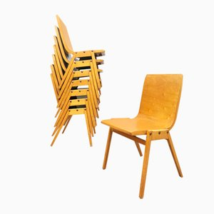 Vintage Plywood Stacking Dining Chair by Ronald Rainer, 1960s