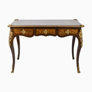 Louis XV Style Desk in Kingwood, 1880s