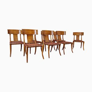 Klismos Chairs by T.H. Robsjohn-Gibbings, 1960s, Set of 8