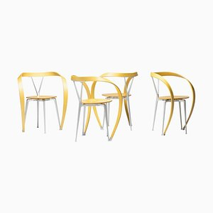 Revers Chairs by Andrea Branzi for Cassina, Italy, 1990s, Set of 4