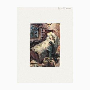 Sympathy Aquarell auf Papier von Pierre Laurent Brenot