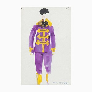 Costume Mixed Media on Paper by Alkis Matheos