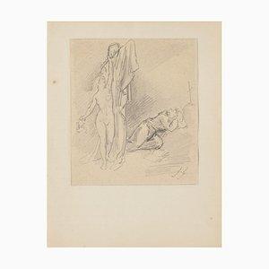 Figuren Bleistiftzeichnung von Gabriel Guèrin