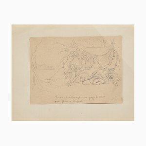 Bacchanal Drawing by Gabriel Guèrin