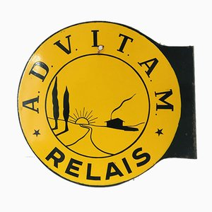 ADVITAM Relais Enamel Sign, 1950s