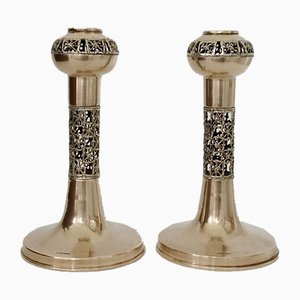 Candleholders from Sarpaneva, 1970s, Set of 2