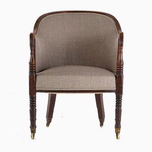 Regency Mahogany Library Chair