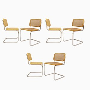 Italian Cane Dining Chairs, 1970s, Set of 6