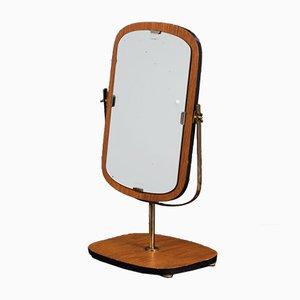 Mid-Century Teak Vanity Mirror On Stand, 1960s