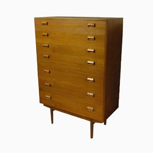 Tall Teak Chest of Drawers by Borge Mogensen for Soborg Mobler, 1950