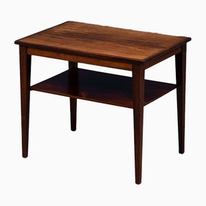 Mid-Century Rosewood Side Table with Shelf from FKF