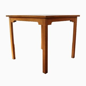Oak Dining Table with Oak Veneered Top by Børge Mogensen, 1970s