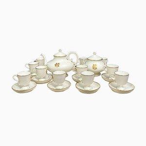 Porcelain Coffee Service Set, Set of 26