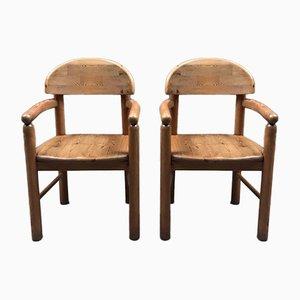 Vintage Armlehnstühle aus Kiefernholz von Rainer Daumiller für Hirtshals, 2er Set