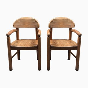 Vintage Pine Armchairs by Rainer Daumiller for Hirtshals, Set of 2