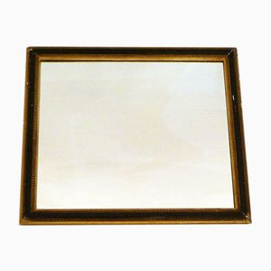 Black Wall Mirror with Frieze of Golden Beads