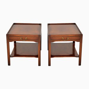 Antique Georgian Style Mahogany Side Tables, 1950s, Set of 2