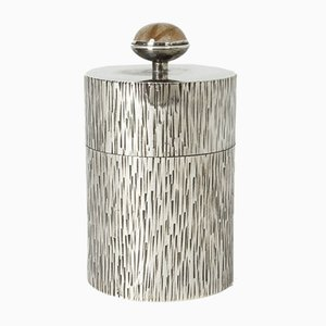 Swedish Silver and Rutilated Quartz Jar by Wilhelm Hahne, 1971