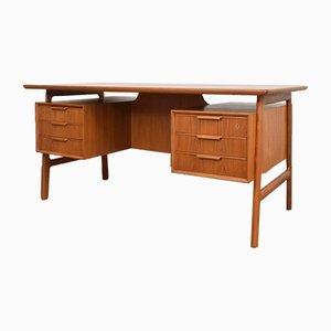 Mid-Century Danish Teak Model 75 Desk form Omann Jun, 1950s